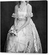 Mary Pickford In Her Wedding Dress, 1920 Canvas Print