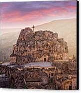 Matera Sassi Canvas Print by Michael Avory