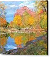 Mayslake At Fall Canvas Print by Judith Barath
