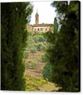 Medieval Church Of Tuscany Canvas Print by David Letts