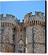 Medieval Fortress Of Rhodes. Canvas Print by Fernando Barozza