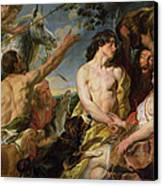 Meleager And Atalanta Canvas Print by Jacob Jordaens