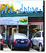 Mel's Drive-in Diner In San Francisco - 5d18014 - Painterly Canvas Print by Wingsdomain Art and Photography