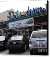 Mel's Drive-in Diner In San Francisco - 5d18027 Canvas Print by Wingsdomain Art and Photography