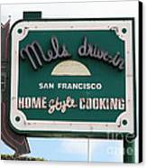 Mel's Drive-in Diner Sign In San Francisco - 5d18046 Canvas Print