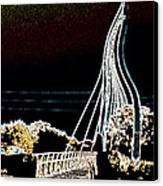 Melting Bridge Canvas Print by David Alvarez