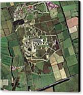 Menwith Hill Spy Base, Aerial Image Canvas Print by Getmapping Plc