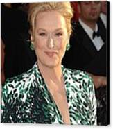 Meryl Streep At Arrivals For 16th Canvas Print by Everett