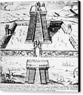 Mexico: Aztec Temple, 1765 Canvas Print