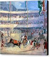 Mexico: Bullfight, 1833 Canvas Print by Granger