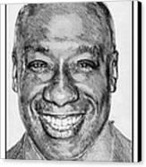 Michael Clarke Duncan In 2009 Canvas Print by J McCombie