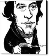 Michael Faraday, Caricature Canvas Print by Gary Brown