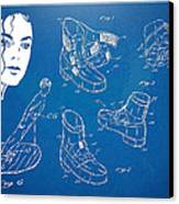Michael Jackson Anti-gravity Shoe Patent Artwork Canvas Print by Nikki Marie Smith