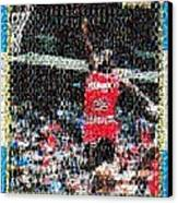 Michael Jordan Rookie Mosaic Canvas Print