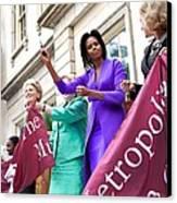 Michelle Obama Cuts The Ribbon Canvas Print