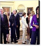 Michelle Obama Laughs With Guests Canvas Print