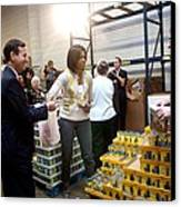 Michelle Obama Volunteers For Feeding Canvas Print by Everett