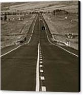 Middle Of The Road Canvas Print by David  Hubbs
