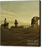 Midsummer Evening Horse Ride Canvas Print by Paul Grand