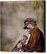 Miles Davis Canvas Print by Andrzej Szczerski