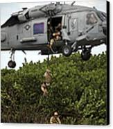 Military Reserve Navy Seals Demonstrate Canvas Print by Michael Wood