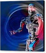 Military Robot, Artwork Canvas Print by Victor Habbick Visions