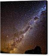 Milky Way Down Under Canvas Print