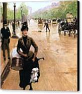 Milliner On The Champs Elys'ees Canvas Print