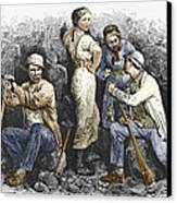 Miners And Their Wives, 19th Century Canvas Print by Sheila Terry