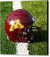 Minnesota Football Helmet Canvas Print by Bill Krogmeier