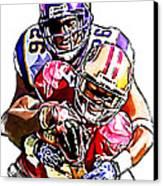 Minnesota Vikings Antoine Winfield  San Francisco 49ers Ted Ginn Jr  Canvas Print by Jack K