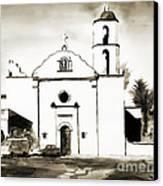 Mission San Luis Rey Bw Canvas Print by Kip DeVore
