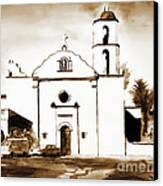 Mission San Luis Rey In Sepia Canvas Print by Kip DeVore