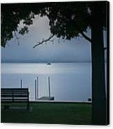 Mist On The Lake Canvas Print by Steven Ainsworth