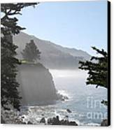 Misty Morning On The Big Sur Coastline Canvas Print by Camilla Brattemark
