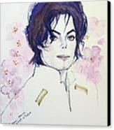 Mj In Sakura Canvas Print