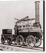 Model Of George Stephensons Successful Canvas Print