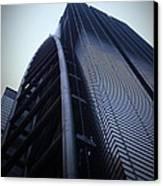 Modern Building In Tokyo Canvas Print by Naxart Studio