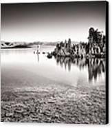 Monochrome Mono Lake Sunrise Canvas Print by Tanya Harrison