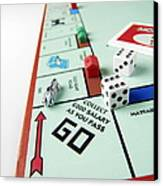 Monopoly Board Game Canvas Print
