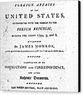 Monroe: Title Page, 1798 Canvas Print by Granger