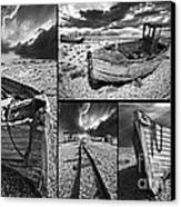 Montage Of Wrecked Boats Canvas Print