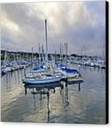 Monterey Harbor Marina - California Canvas Print