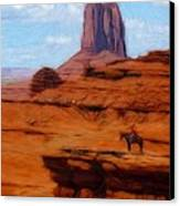 Monument Valley Pastel Canvas Print by Steve K