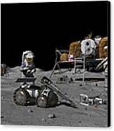 Moon Exploration, Artwork Canvas Print