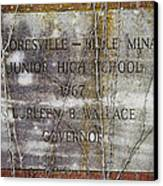 Mooresville - Belle Mina Junior High School 1967 Canvas Print by Kathy Clark