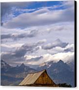 Mormon Barn Morning Canvas Print by Joseph Rossbach