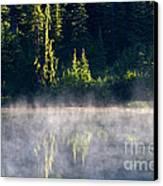 Morning Mist Canvas Print by Mike  Dawson