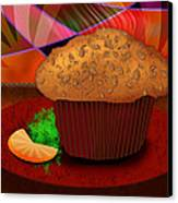 Morning Muffin Canvas Print by Melisa Meyers