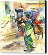 Morrocan Market 04 Canvas Print by Miki De Goodaboom
